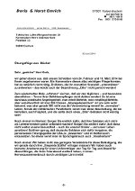 Brief an Andreas Korb, Kommodore des Fliegerhorsts Büchel